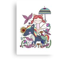 Prancing Girl Canvas Print