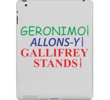 Doctor Who Catchphrases  iPad Case/Skin