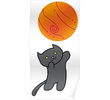 Cat with Planet Poster