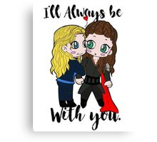 With you. ♥ Canvas Print