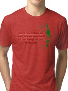 Christmas Vacation Quote trulymerry Tri-blend T-Shirt
