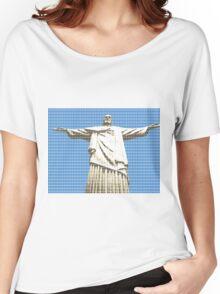 Christ The Redeemer - Blue Women's Relaxed Fit T-Shirt