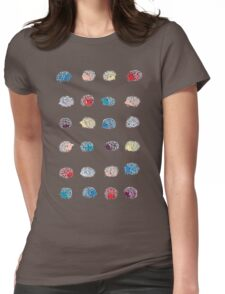 Hedgehog Stickers Womens Fitted T-Shirt
