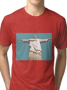 Christ The Redeemer - Dark Blue Tri-blend T-Shirt