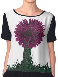 Dark Flower Chiffon Top