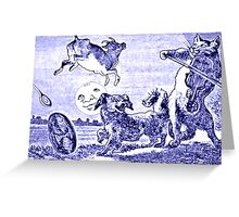 Hey Diddle Diddle The Cat And The Fiddle Greeting Card