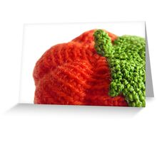 Pumpkin knitted Greeting Card