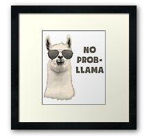 No Problem Llama Framed Print