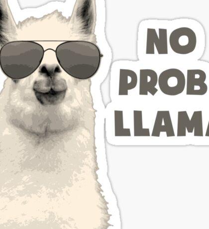 No Problem Llama Sticker