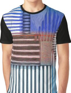 Polygons in Blue Graphic T-Shirt
