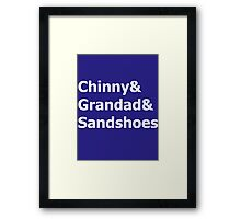Doctor Nicknames Framed Print