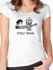 Steely Brown Women's Fitted Scoop T-Shirt