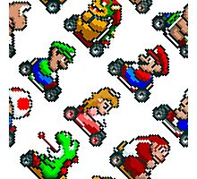 Super Mario Kart SNES (pattern) Photographic Print