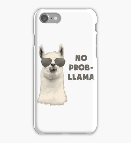 No Problem Llama iPhone Case/Skin