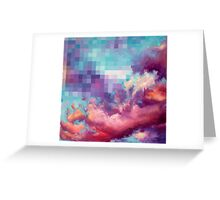 Pixel Clouds Greeting Card