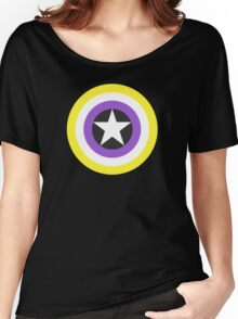 Pride Shields - Nonbinary v1.2 Women's Relaxed Fit T-Shirt