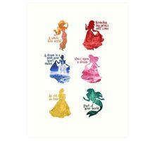 Princesses - Castle Art Print