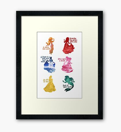 Princesses - Castle Framed Print