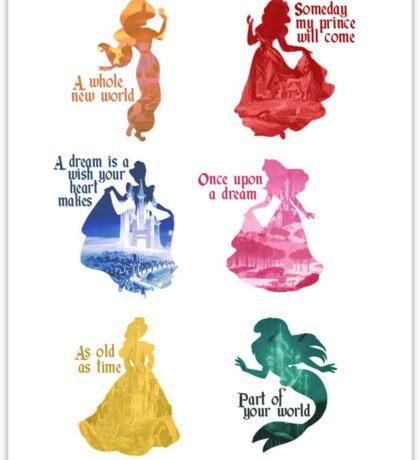 Princesses - Castle Sticker