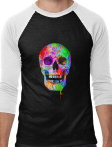 Splash Art Skull (Original) Men's Baseball ¾ T-Shirt