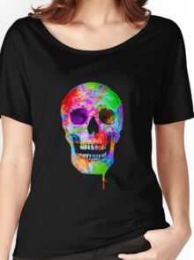 Splash Art Skull (Original) Women's Relaxed Fit T-Shirt