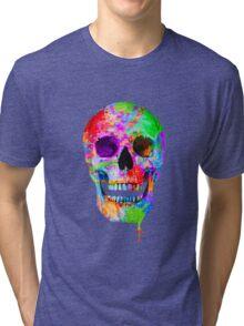 Splash Art Skull (Original) Tri-blend T-Shirt