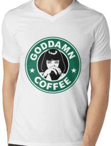 Goddamn Coffee Mens V-Neck T-Shirt