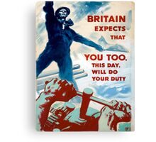 Vintage poster - Do Your Duty Canvas Print
