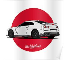 Nissan GT-R (white) Poster
