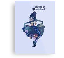 Welcome to Wonderland - Blue Metal Print