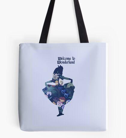 Welcome to Wonderland - Blue Tote Bag
