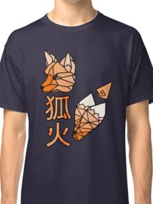 Kitsunebi Fire Fox Yokai Geometric Design Classic T-Shirt