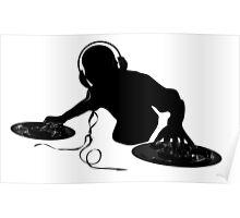 Platine DJ mixe logo Poster