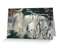 Aerial View of Niagara Falls with Snow and Ice Greeting Card