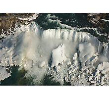 Aerial View of Niagara Falls with Snow and Ice Photographic Print