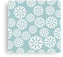 Snowflakes on light blue background Canvas Print