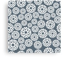 Snowflakes on dark grey background Canvas Print