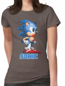 Sonic the Hedgehog 16 bit Womens Fitted T-Shirt