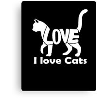 I love cats T-shirt Canvas Print