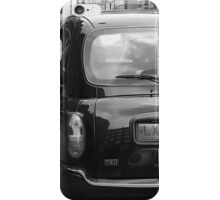 Black cabs at Marylebone Station iPhone Case/Skin