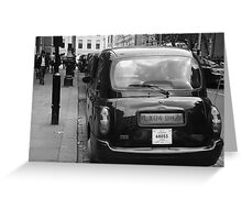 Black cabs at Marylebone Station Greeting Card