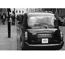 Black cabs at Marylebone Station Photographic Print