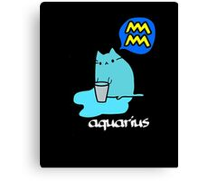 Aquarius T-shirt Canvas Print