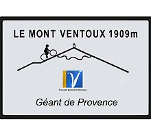 Mont Ventoux Cycling Road Sign Tour De France by movieshirtguy
