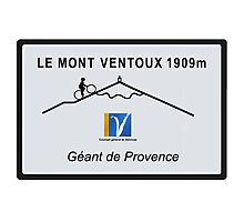 Mont Ventoux Cycling Road Sign Tour De France Photographic Print