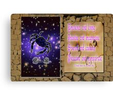 Cancer and Horoscope Canvas Print