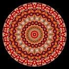 Red Fractal Kaleidoscope Pattern by fantasytripp