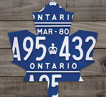 Toronto Maple Leafs License Plate Art Print - Grey by Route401
