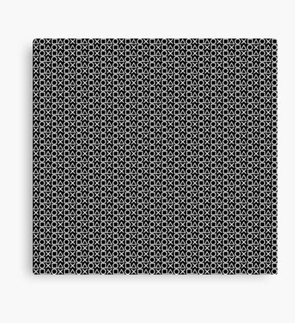 Playstation Buttons - White on Black Canvas Print