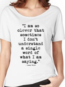 Oscar Wilde Cleverness Women's Relaxed Fit T-Shirt